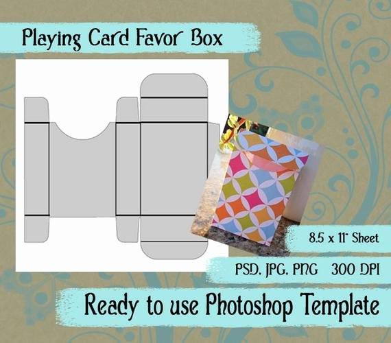 Shop Template Playing Card Favor Box In Jpg Png Psd