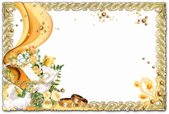 Shop Wedding Frame Template