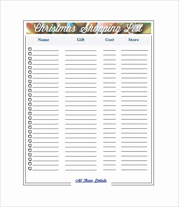 Shopping List Template Dc Design