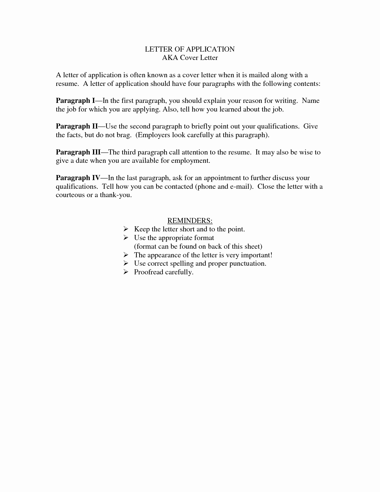 Short Cover Letters Examples
