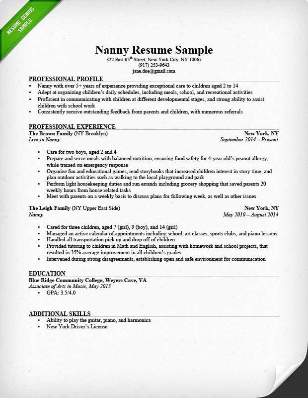 show me sample of caregiver resume