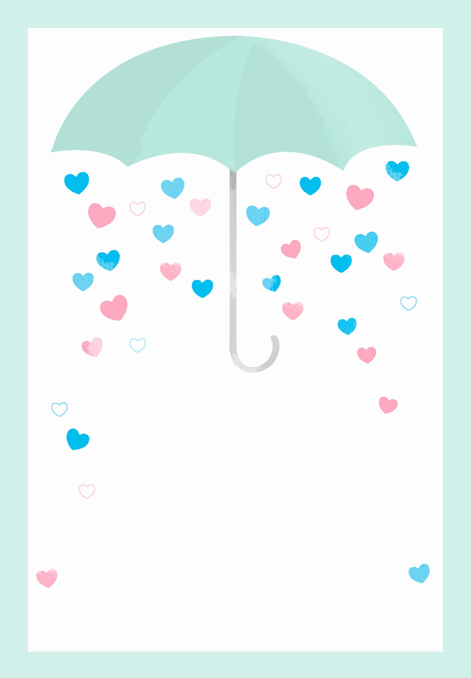 Shower with Love Free Printable Baby Shower Invitation