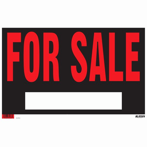 "Sign ""for Sale"" Sign"
