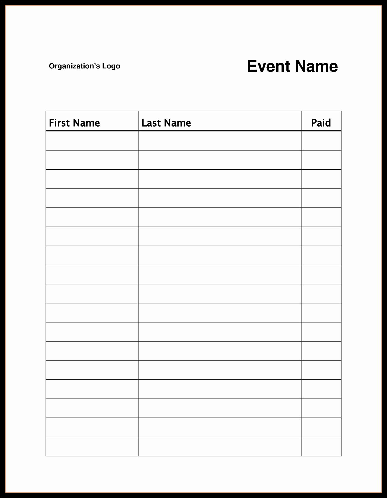 Sign Up Sheet Template Pages Portablegasgrillweber