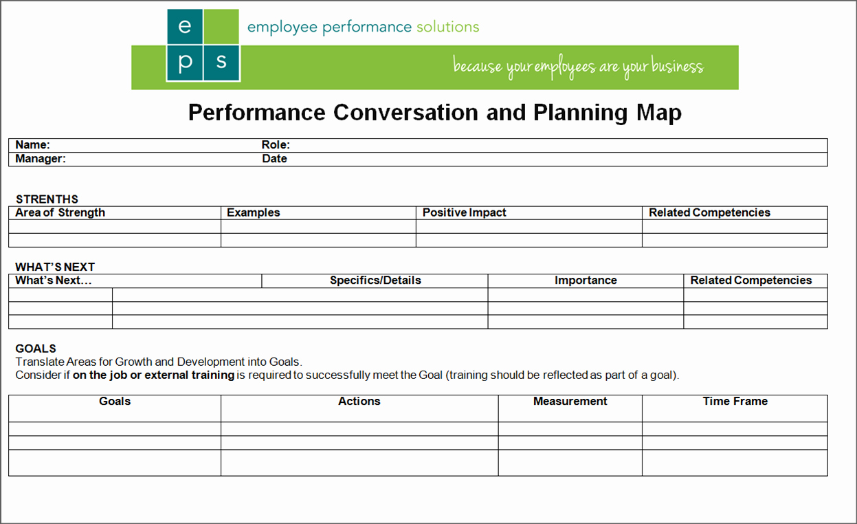Simple 1 Page Performance Review form
