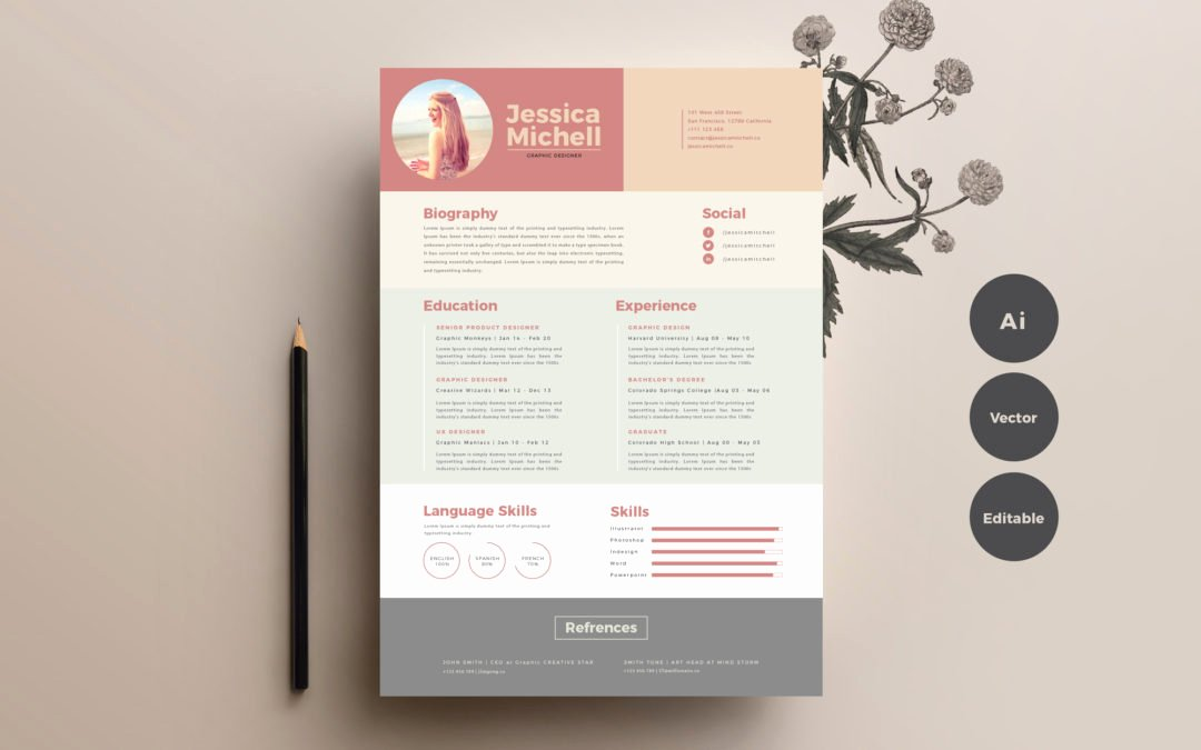 Simple & Elegant Free Resume Templates Responsive Joomla