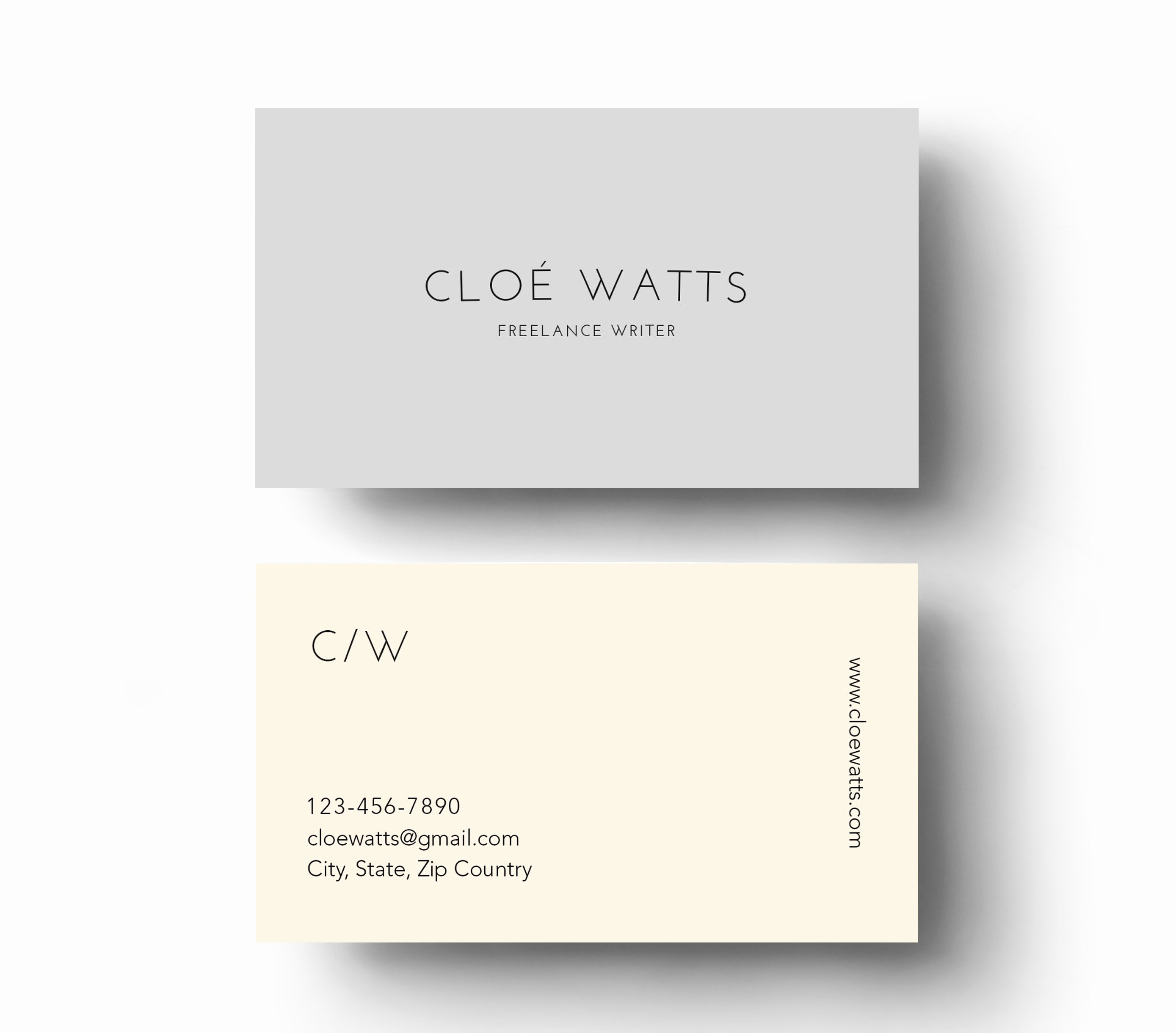 Simple & Modern Business Card Template Inspiration Cardfaves