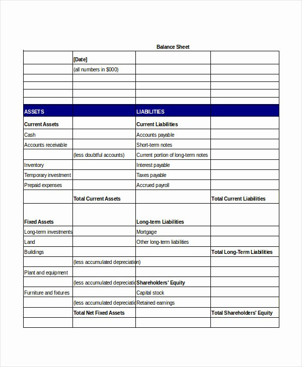 Simple Balance Sheet 20 Free Word Excel Pdf Documents