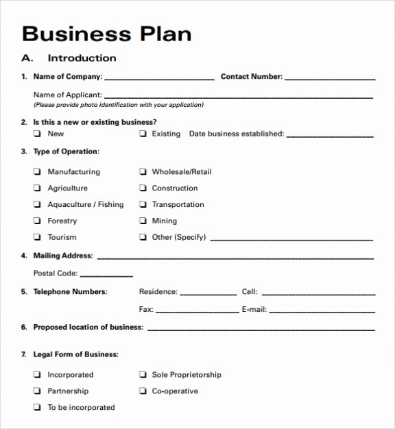 Simple Basic Startup & Small Business Plan Template Pdf