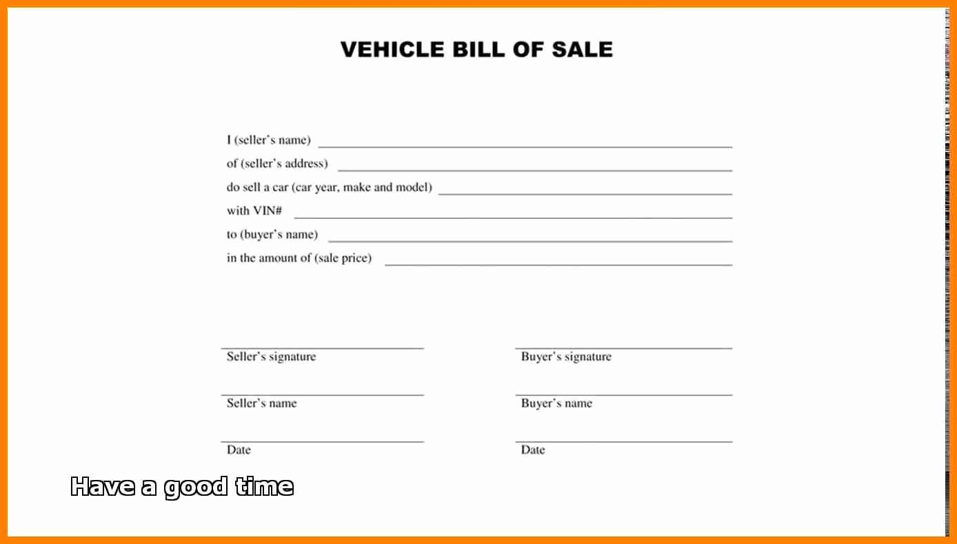 Simple Bill Of Sale form Printable Template Free Sample