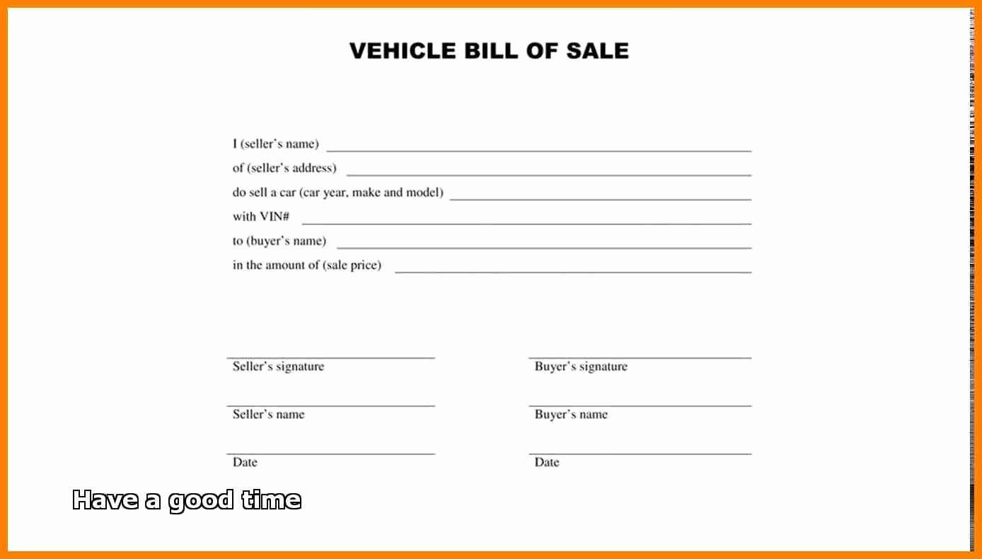 Simple Bill Of Sale form Printable Template Free Sample