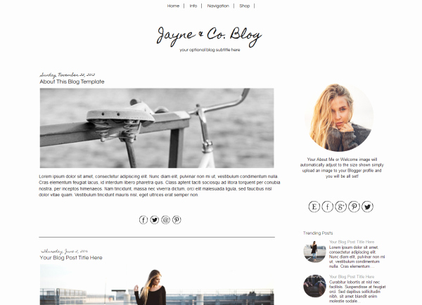 Simple Blogger Template Black & White Blogger Template