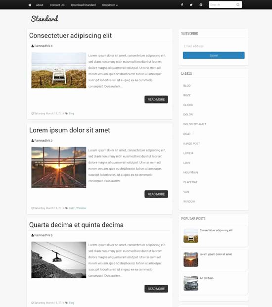 Simple Blogger Templates Image Collections Template