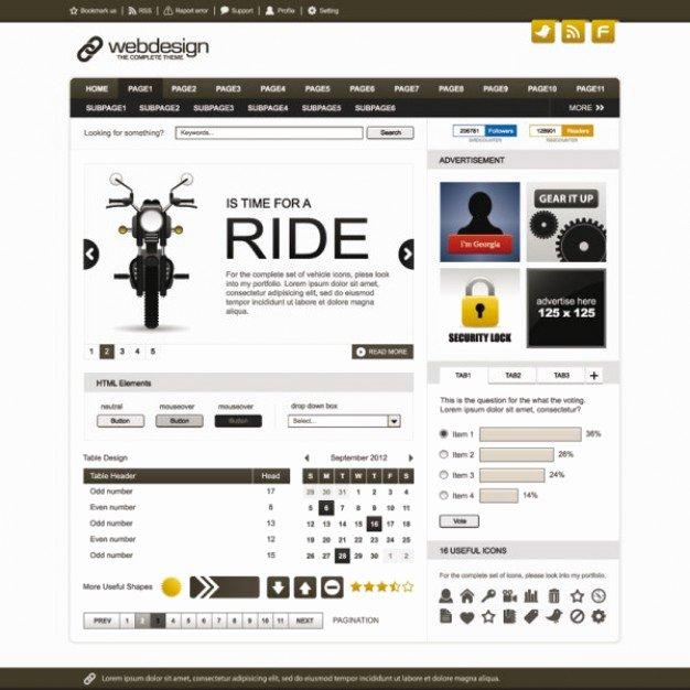 Simple Board Website Template Vector Templates