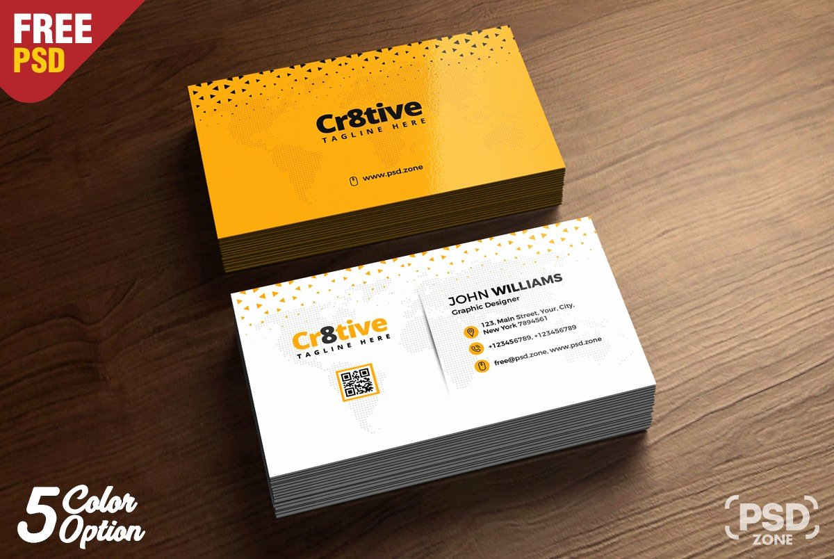 Simple Business Card Design Template Psd Download