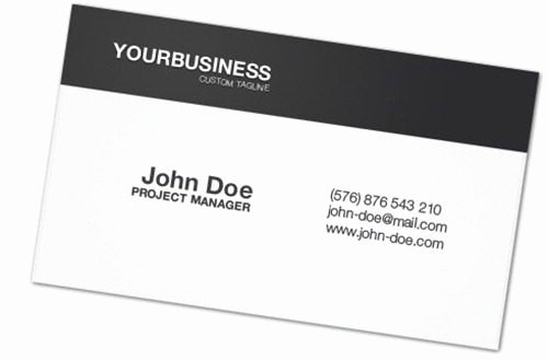 Simple Business Card Examples