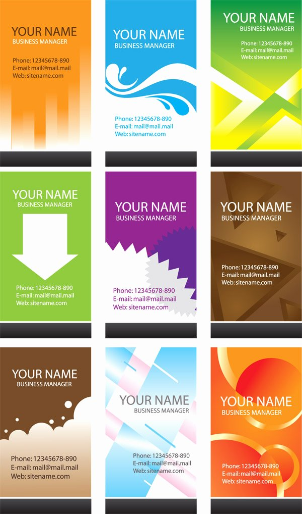Simple Business Card Template Vector Free Vector 4vector