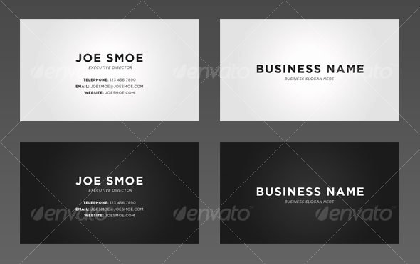 Simple Business Cards Examples