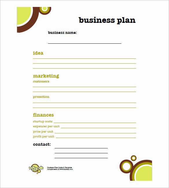 Simple Business Plan Template – 14 Free Word Excel Pdf