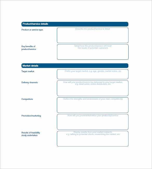 Simple Business Plan Template – 20 Free Sample Example