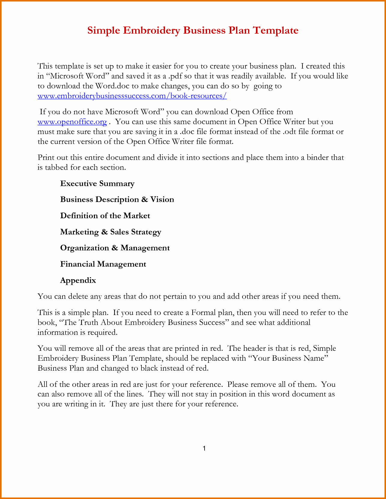 Simple Business Plan Template Wordreference Letters Words