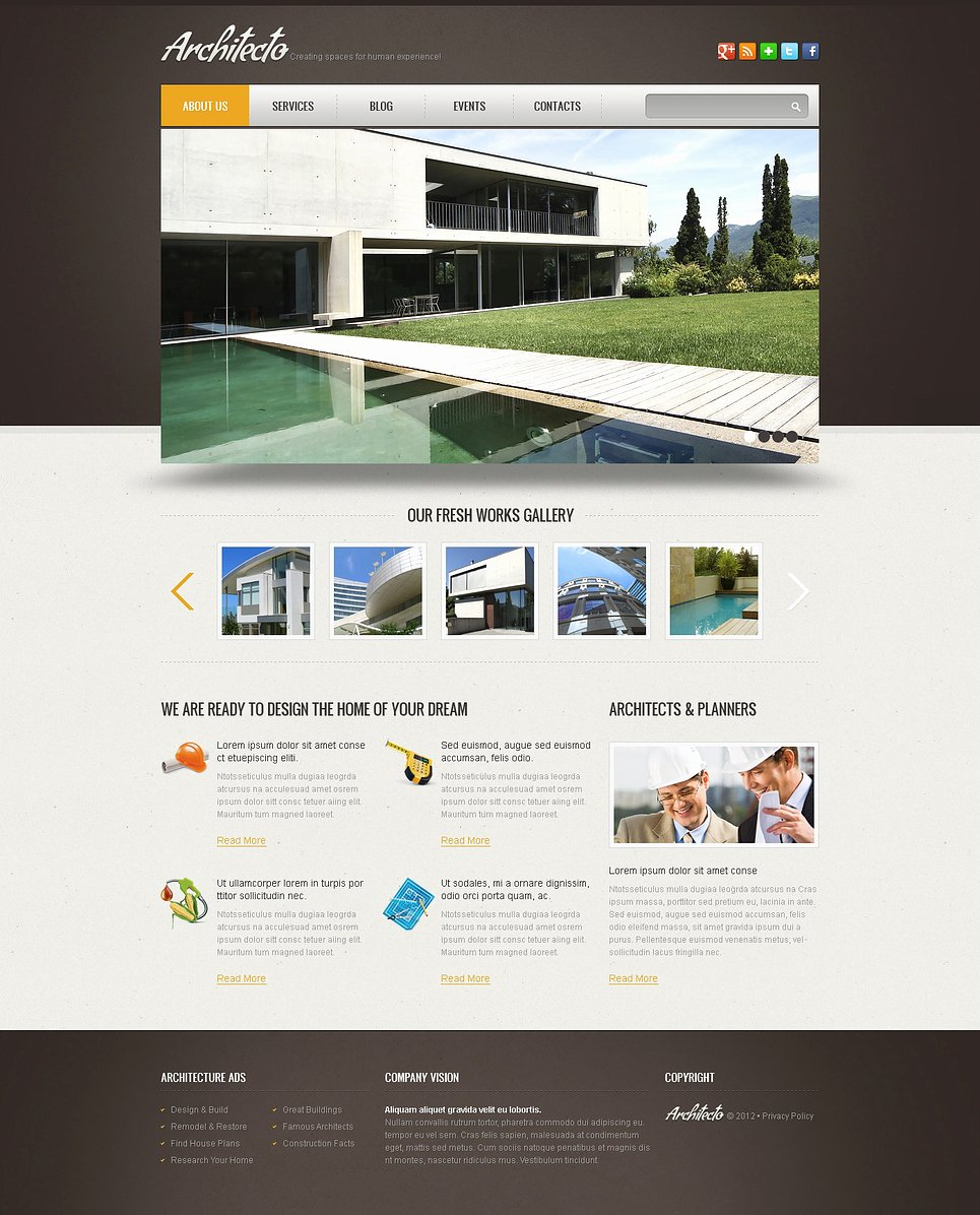 Simple Construction Wix Website Template