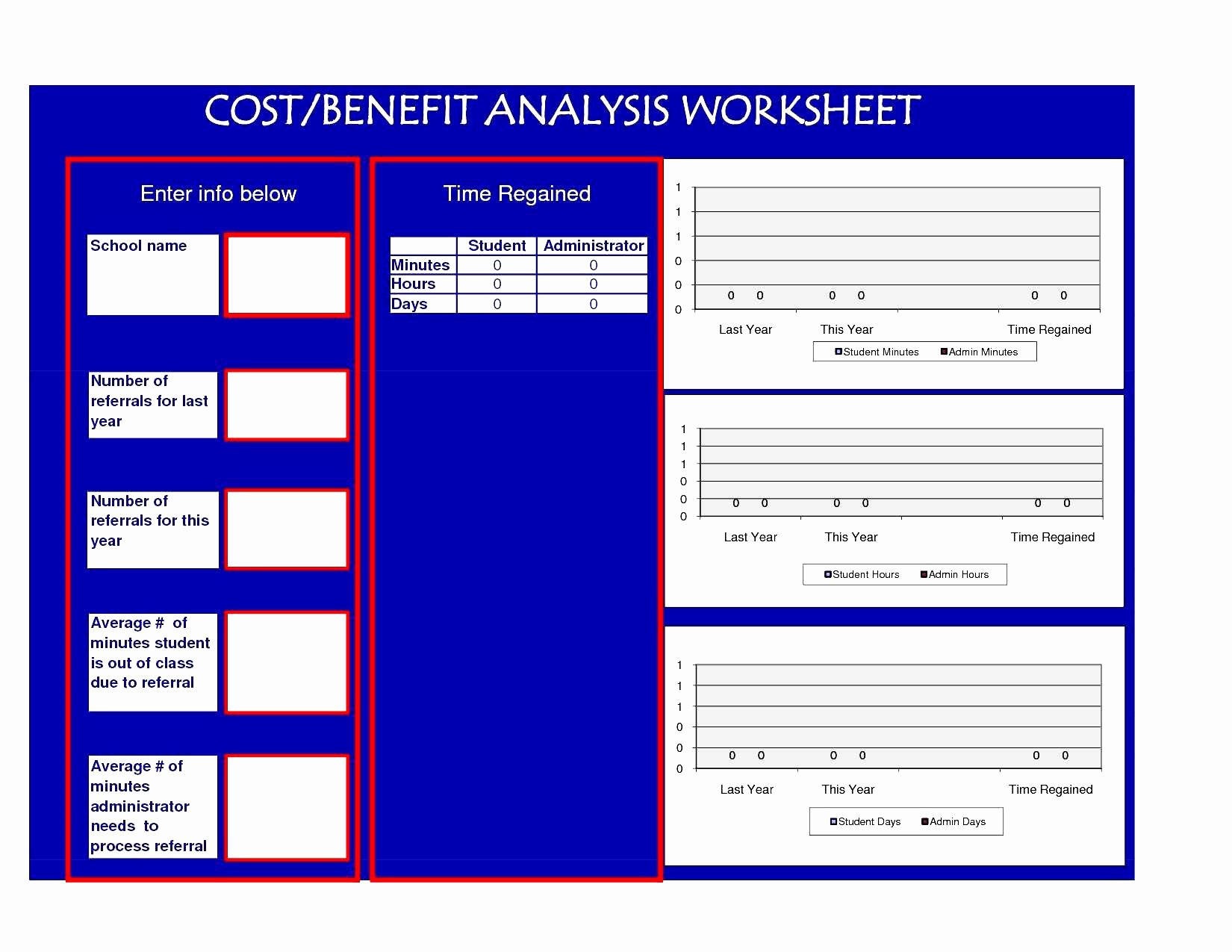 Simple Cost Benefit Analysis Template Bamboodownunder