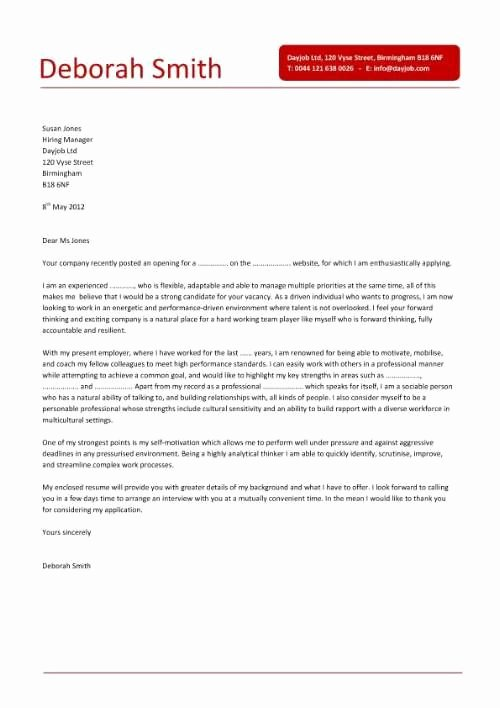 Simple Cover Letter Design that is Clear Concise and