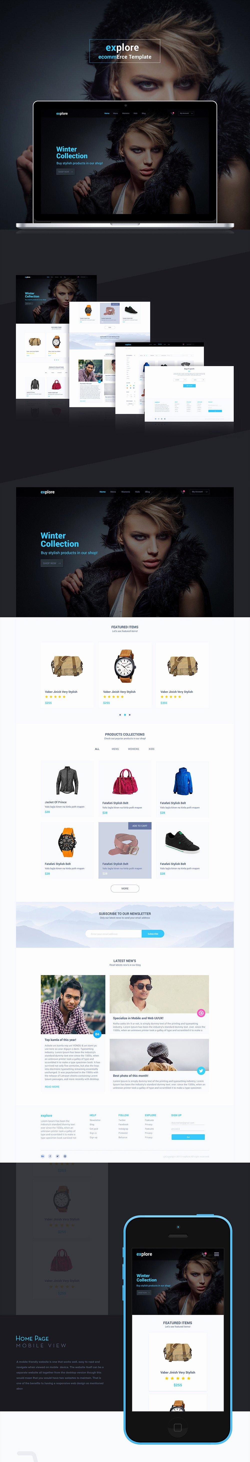 Simple E Merce Website Templates Free Psd Set Download
