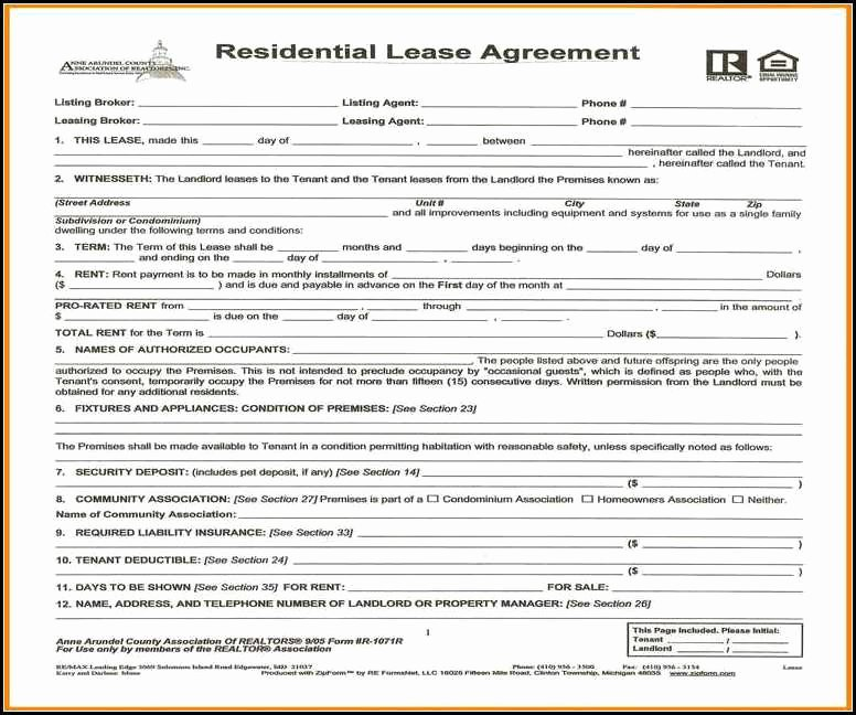 Simple E Page Lease Agreement Template
