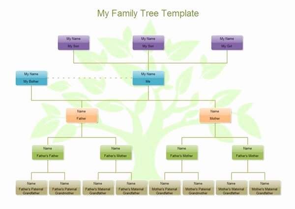 Simple Family Tree Template Tutorials Crafts