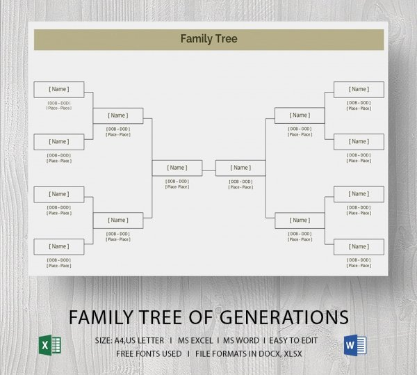 Simple Family Tree Template Word Beautiful Template