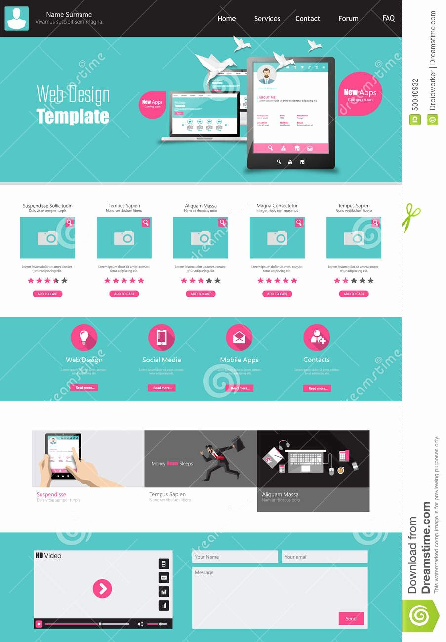 Simple Homepage Design Template Homemade Ftempo