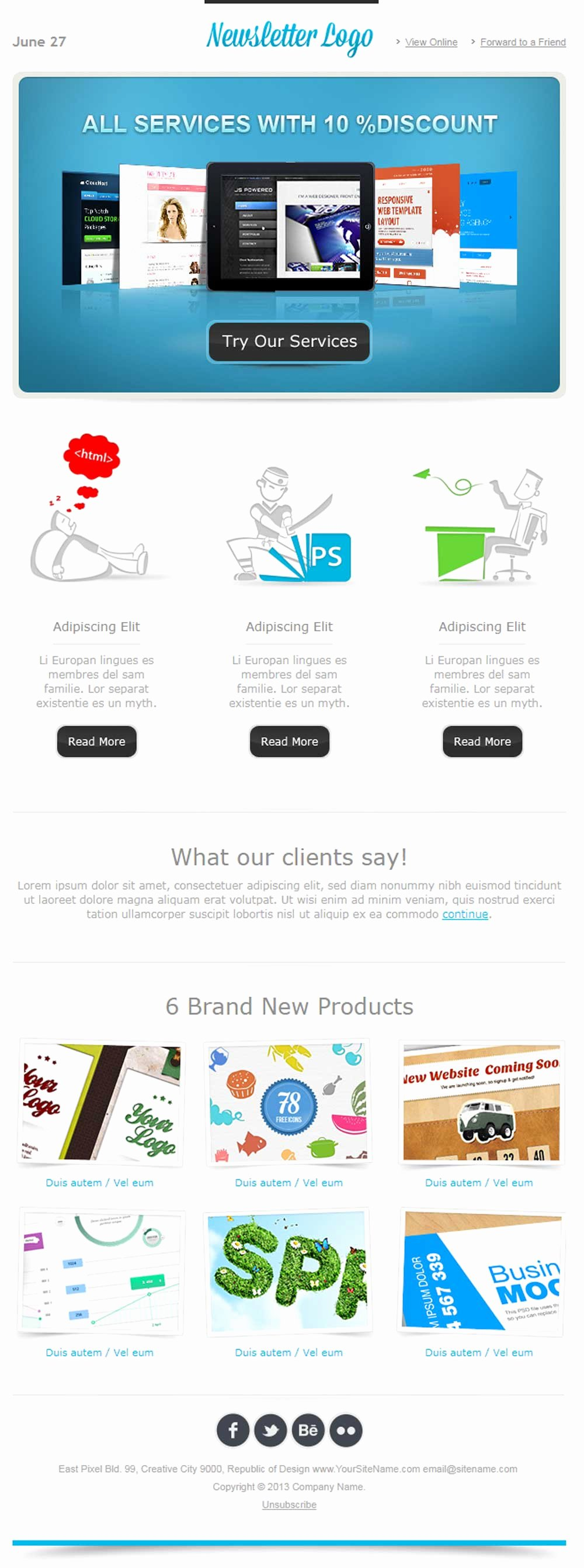 Simple HTML Email Template Build Successful Email Campaign