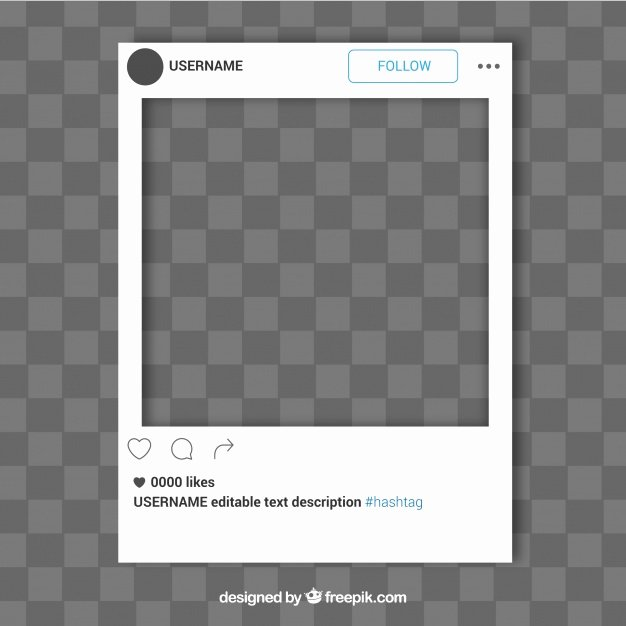 Simple Instagram Frame Template Vector