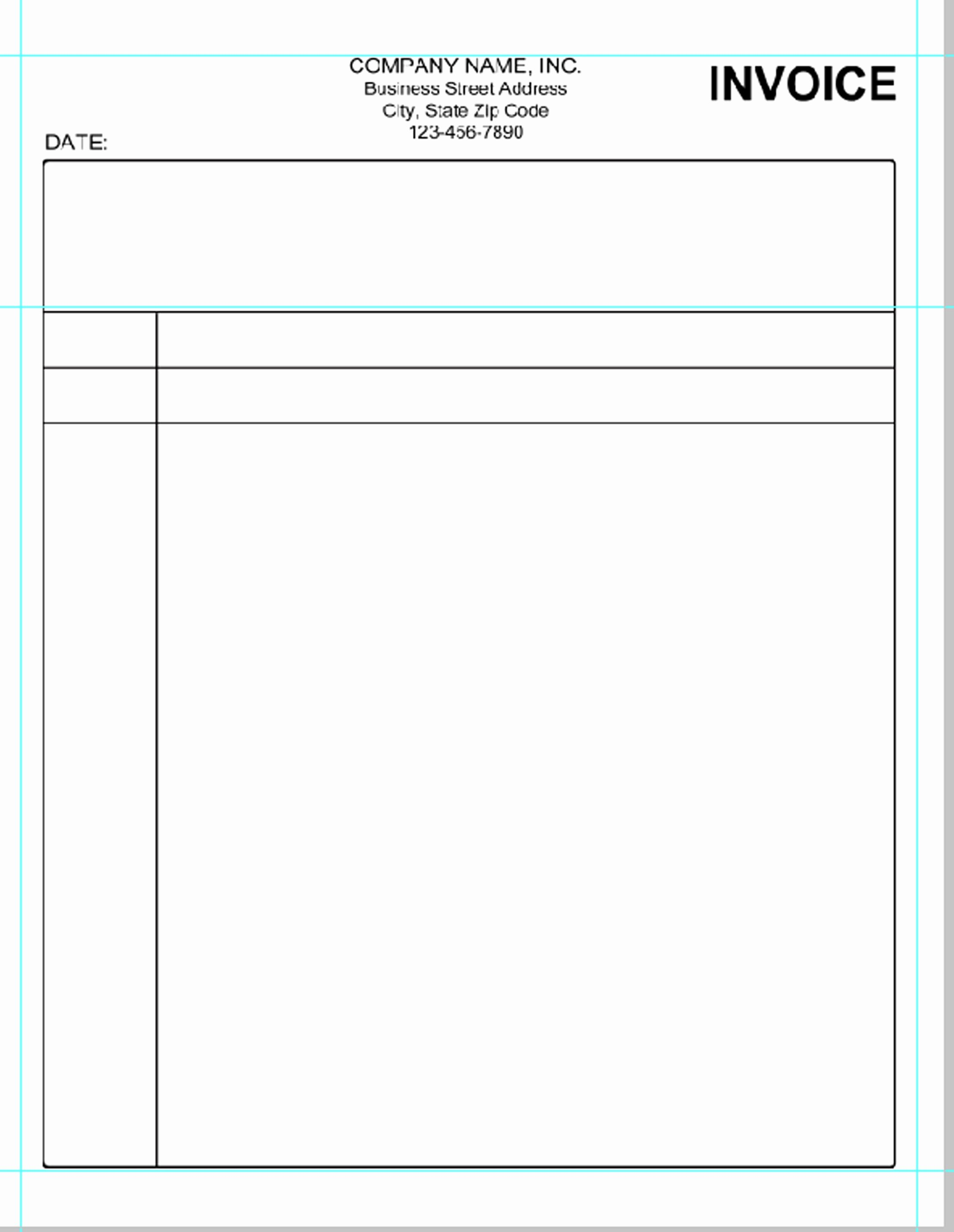 Simple Invoice Template Microsoft Word Invoice Template