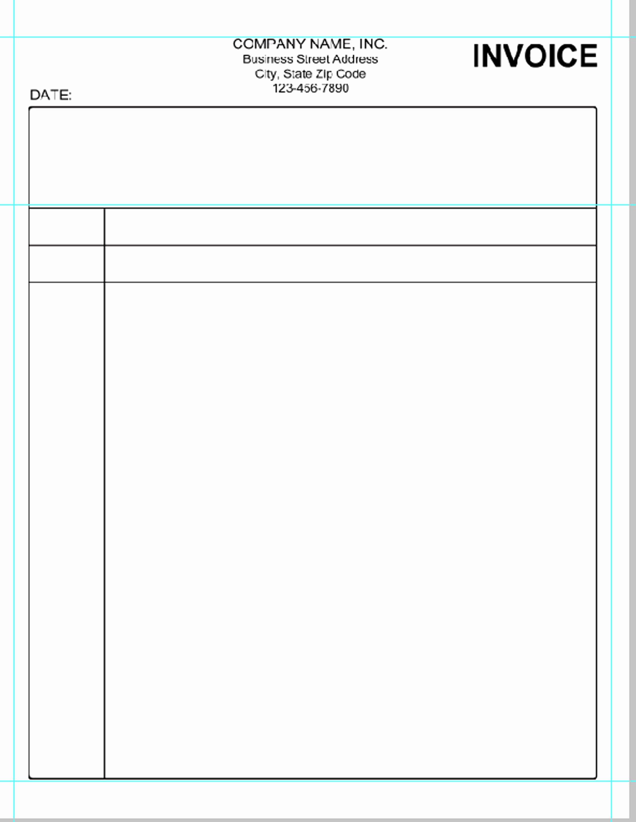 Simple Invoice Template Pdf
