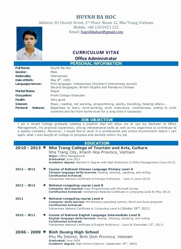 Simple Job Resume
