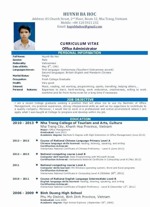 Simple Job Resume
