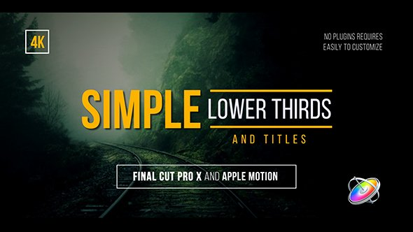Simple Lower Thirds and Titles Fcpx by Whitemarker