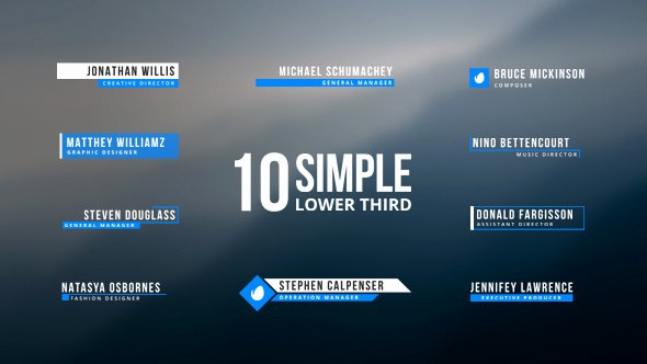 Simple Lower Thirds Lower Third after Effects Templates