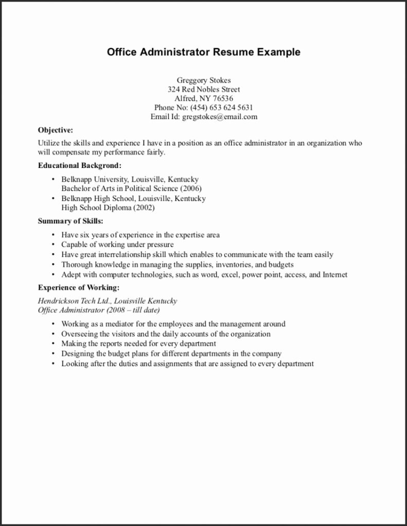 Simple No Experience Resume Template Templates High School