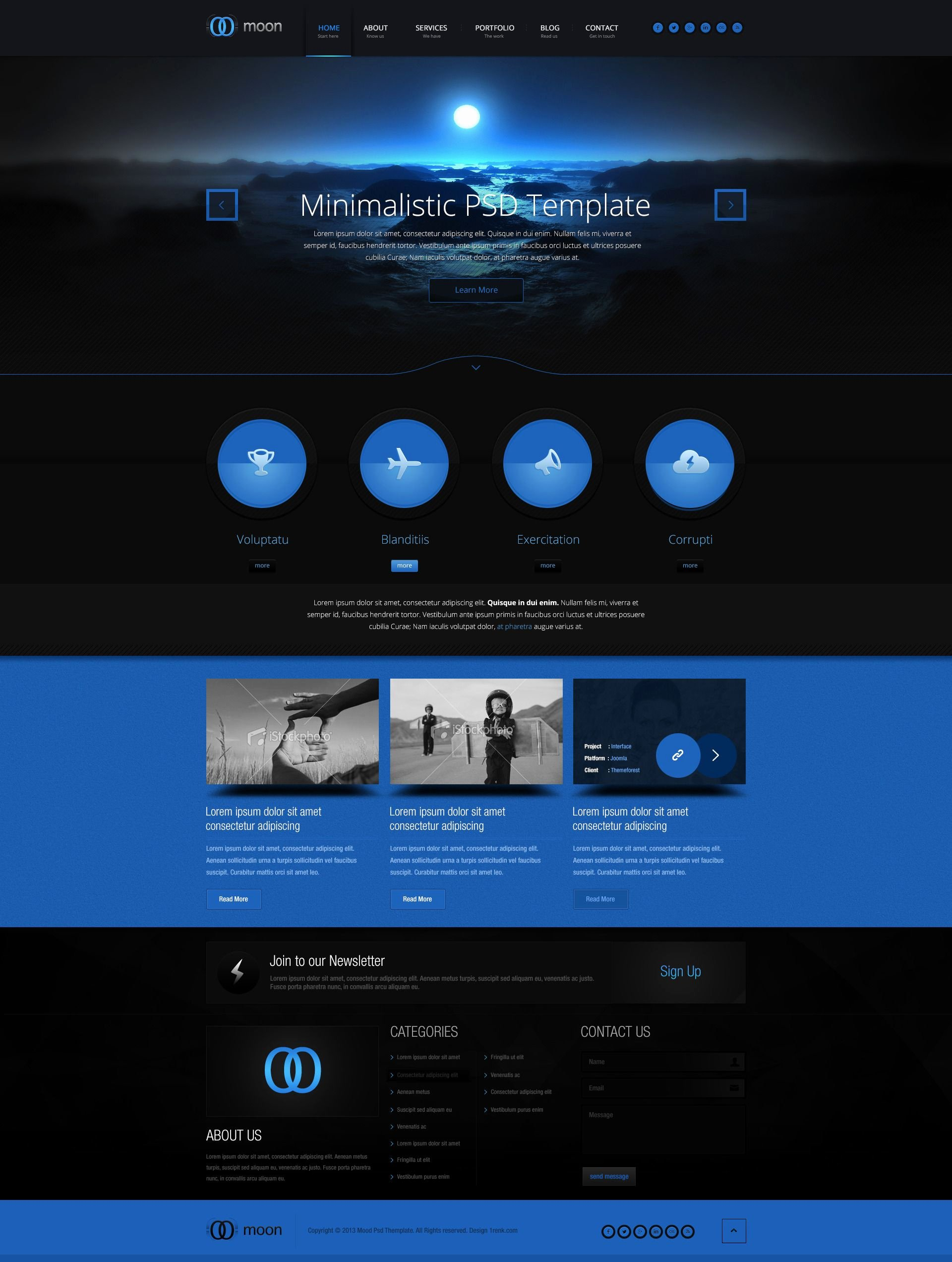 Simple Powerful yet Dark Web Design Inspiration