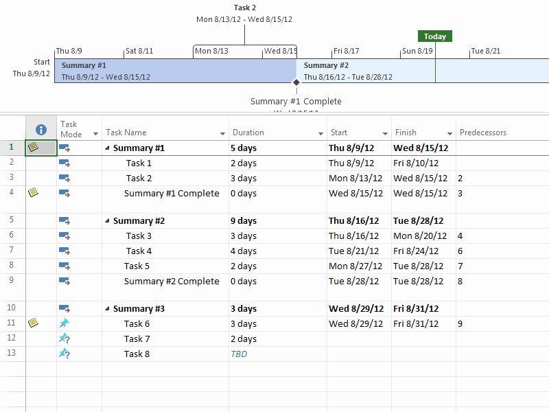 Simple Project Plan Template for Project Standard 2013