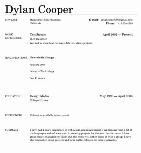 Simple Resume Builder 2017