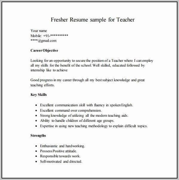 Simple Resume format Pdf Download Resume Resume