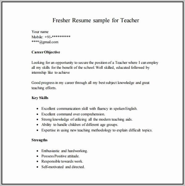 Simple Resume format Pdf Download Resume Resume