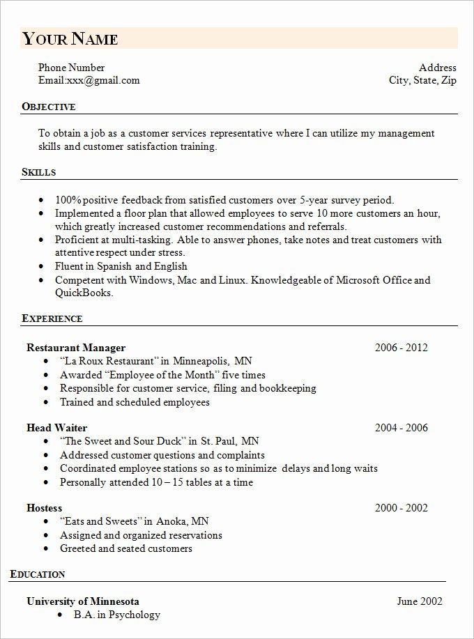 Simple Resume Template 46 Free Samples Examples
