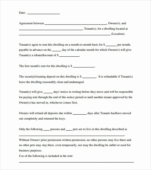 Simple Room Rental Agreement form Free Printable Sample