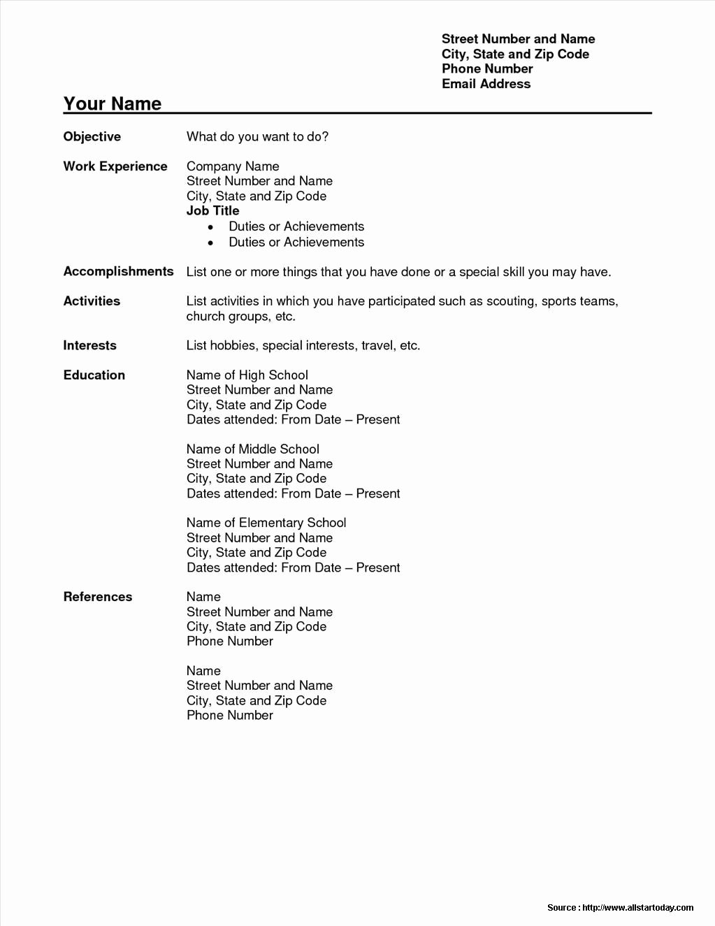 Simple Sample Resume format Free Download Resume